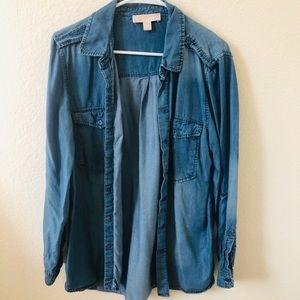 Michael Kors Denim Button Up Shirt